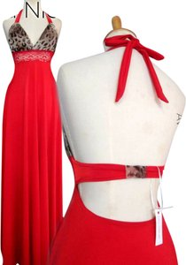 Red Maxi Dress by Lisa Nieves Formal Stretchy Evening