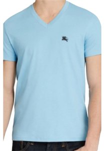 Burberry Mens Mens T Shirt Powder Blue