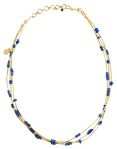 GURHAN Multistrand 24K Gold and Blue Sapphire Necklace
