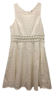 Free People short dress Ivory Sleeveless Fit & Flare on Tradesy