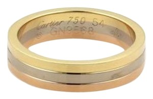 Cartier Cartier 18k Tri-color Gold Triple Stack 5mm Band Ring Eu 54-us