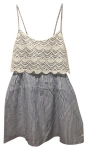 Abercrombie & Fitch short dress Blue / White Striped Lace on Tradesy