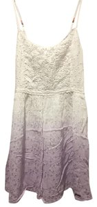 Abercrombie & Fitch short dress Purple / White Ombre Eyelet Lace on Tradesy