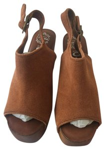 Jeffrey Campbell Dark Tan Suede Mules