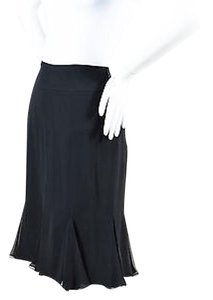 St. John Evening Silk Skirt Black