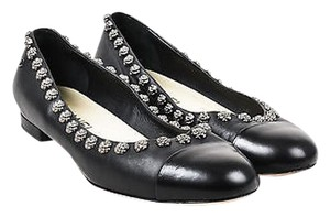 Chanel Gunmetal Gray Black Flats