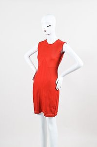 Chanel Stretch Textured Knit Sleeveless Sheath Dress