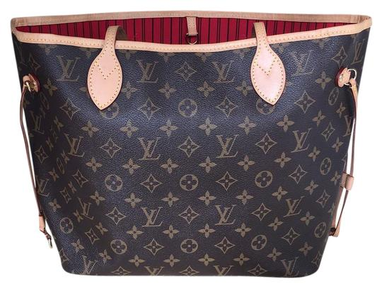 louis vuitton neverfull mm made in france tote bag totes on sale. Black Bedroom Furniture Sets. Home Design Ideas