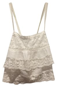 Hollister Crop Lace Ruffle Top White
