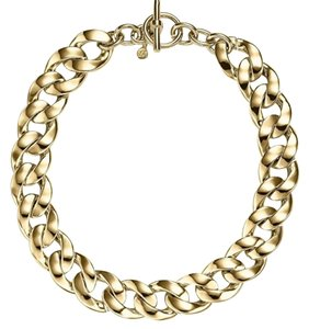 Michael Kors NWT MICHAEL KORS GOLD TONE CURB LINK NECKLACE W DUST BAG $175