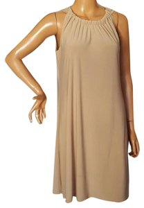 MSK short dress Size 6 nude chic dress on Tradesy