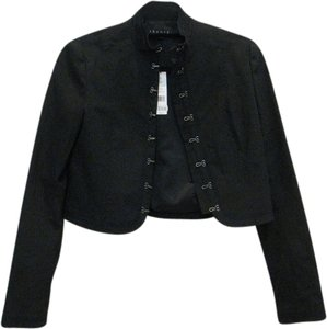 Theory Military Hook Crop Black Blazer