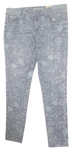 Merona Floral Pattern Nwt Skinny Jeans-Medium Wash
