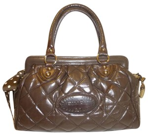 Dimoni Refurbished Leather Satchel in Brown