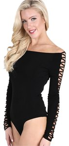 Nikibiki Bodysuit Criss Cross Sexy Top black