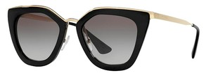 Prada PR 53SS 1AB0A7 - Black Prada Sunglasses with Gold Trim - FREE 3 DAY SHIPPING
