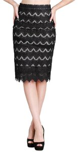 Nikibiki Pencil Lace Skirt Black