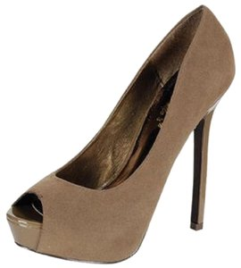 Breckelle's Taupe Platforms