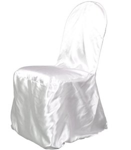 200 Satin Banquet Seat Covers - Ivory