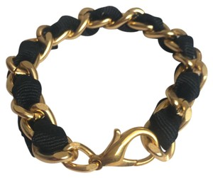 Elliot Francis Black Ribbon Chain Bracelet