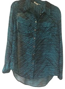 Vince Camuto Top Black and teal