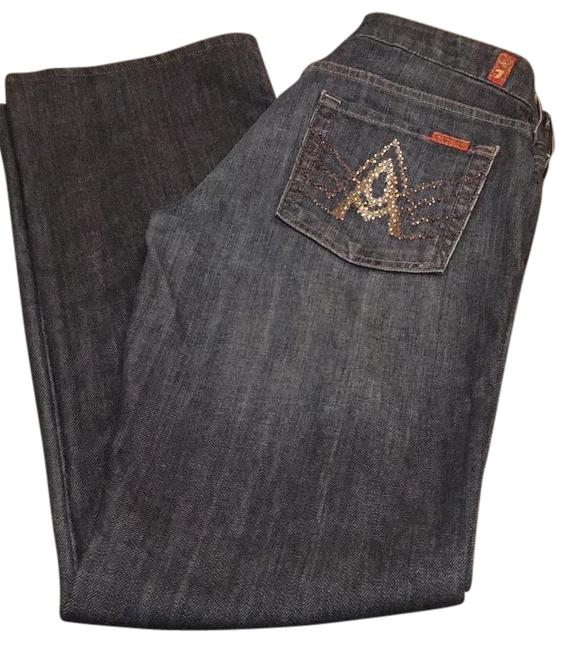 7 For All Mankind Blue Denim Straight Leg Jeans Size 30 (6, M) 7 For All Mankind Blue Denim Straight Leg Jeans Size 30 (6, M) Image 1