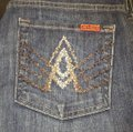 7 For All Mankind Blue Denim Straight Leg Jeans Size 30 (6, M) 7 For All Mankind Blue Denim Straight Leg Jeans Size 30 (6, M) Image 4
