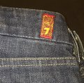 7 For All Mankind Blue Denim Straight Leg Jeans Size 30 (6, M) 7 For All Mankind Blue Denim Straight Leg Jeans Size 30 (6, M) Image 5