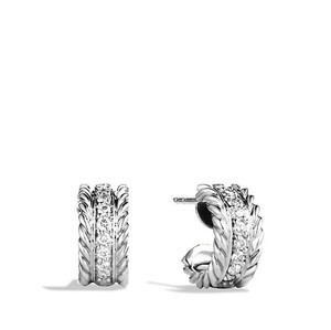 David Yurman Cable Classic Earrings With Diamonds. E06417 Ssadi