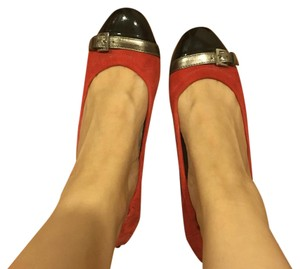 Tod's Red/black Flats
