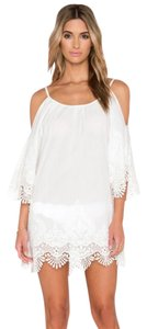 PilyQ short dress White Lace Trim Lace Embroidered Breezy Off The on Tradesy