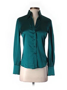Trina Turk Button-down Top Teal
