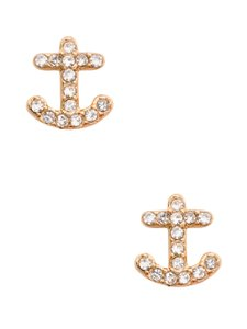 Kate Spade NEW kate spade New York Anchor Away Pave Stud Earrings