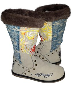 Ed Hardy Tiger Winter Tan Boots
