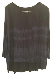 Raquel Allegra 100% Silk One Size T Shirt Navy/Black