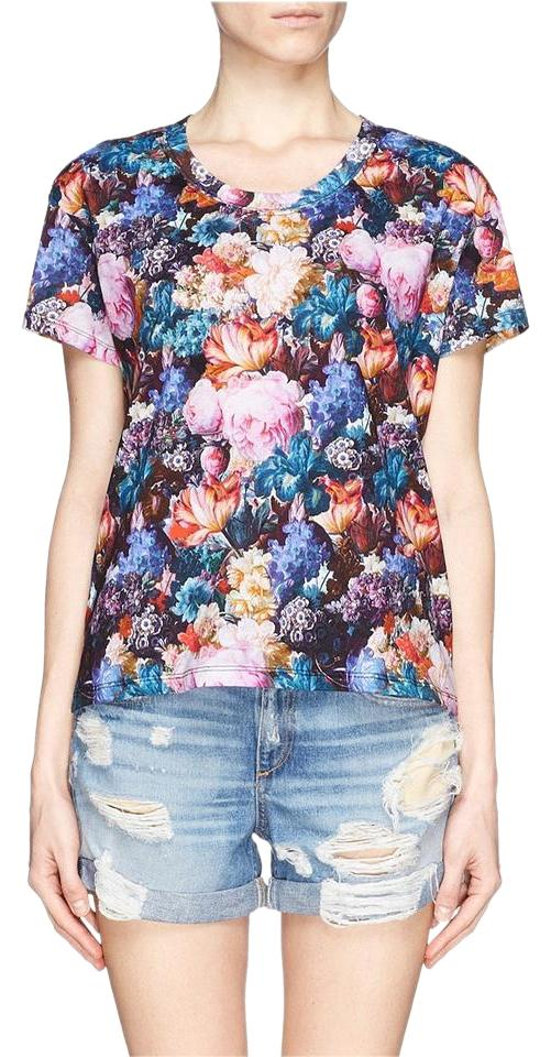 Sandro floral print tee shirt size 4 s tradesy for T shirt print dimensions