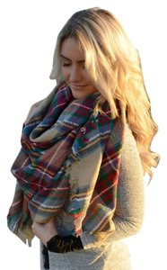 Zara NEW Zara Tartan Plaid Blanket Scarf