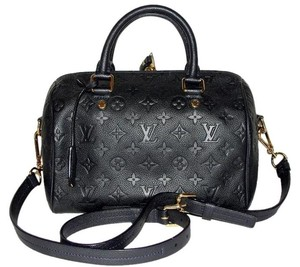 Louis Vuitton Empreinte Speedy Empriente Speedy Bandouliere Satchel in Black Blue
