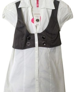 HeartSoul Top White and gray