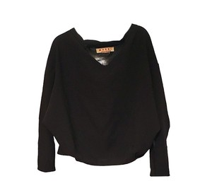 Marni Oversized Slouchy Chic Top black