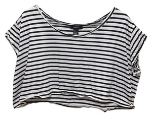 Forever 21 Balck and white Halter Top