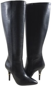 Tory Burch Grained Calfskin Black Boots