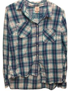 Mossimo Supply Co. Button Down Shirt Blue