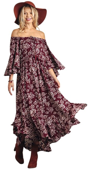 Item - Burgundy Long Casual Maxi Dress Size 10 (M)