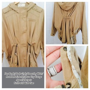 Free People Khaki Tan Womens Jean Jacket