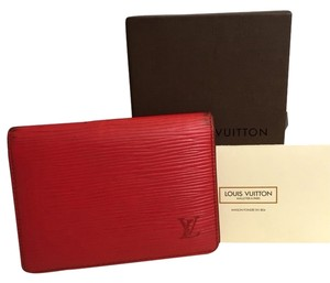 Louis Vuitton Louis Vuitton Red Epi Leather Card Pass