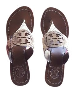 Tory Burch Natural Fango Sandals