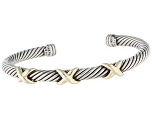 David Yurman Sterling silver David Yurman Triple X Station Cable Classics Bracelet