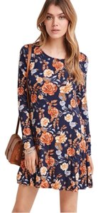 Forever 21 short dress Navy/Coral on Tradesy
