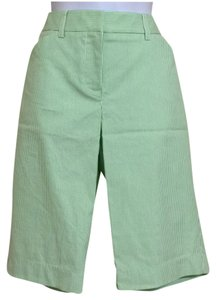 Jones New York Bermuda Shorts Green & White